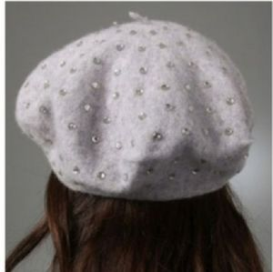 90s Juicy Couture Gray Wool Beret